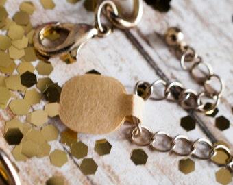Blank round jewelry price tags brown kraft paper