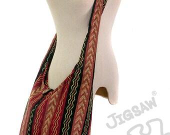 Crossbody hobo bag Nepali cotton bag Tribal Shoulder Bag Messenger bag Hip bag Handmade bags