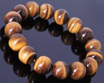 ON SALE Handmade  Brown Tiger Eye Bracelet Healing Gemstone Men's Jewelry DiyNotion BR052