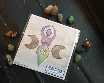 Triple Moon Goddess Card