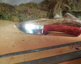 Eric's Oregon Elk Skinning Knife Red Gum wood Handles