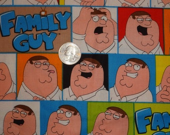 Family Guy Peter Griffin Patch Cotton Quilting Fabric 1 1/2 yard