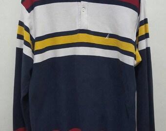 Vintage nautica rugby sailing shirt long sleeve