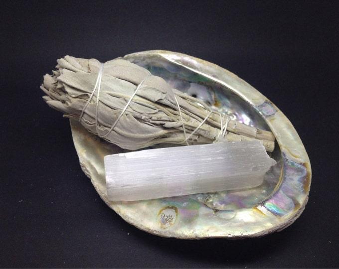 Smudge Kit White Sage,  Shell &  Selenite SCS01