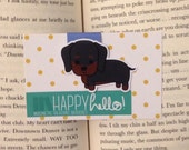 Magnetic Bookmarks • Dachshund