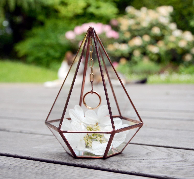 Wedding Ring Holder Wedding Ring Pyramid Mini Glass