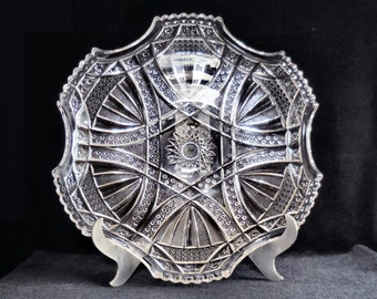Westmoreland Pressed Glass Tray in the Shield pattern circa 1900