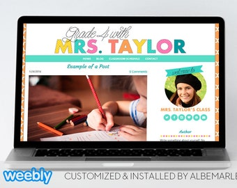 Premade Weebly Template Teacher Blog Classroom Lessons - Mrs. Taylor