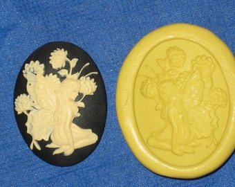 Fairy Cameo Flexible Push Mold Candy Food Safe Silicone #360 Bookscrapping