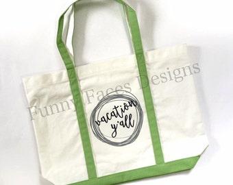 Beach Tote, Tote Bag, Weekender, Weekend Bag, Summer Bag, Beach Bag, Large Tote, Large Tote Bag, Vacation Bag, Luggage, Personalized Bag