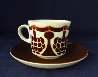 Arabia of Finland, Marja, coffee cup and saucer.