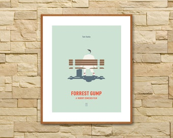 FORREST GUMP POSTER - Minimalist Posters, Tom Hanks, Robert Zemeckist, Cast Away, Movie Poster, Alternative Poster, Movie Quote Poster