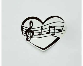 Music Vinyl Decal, Musical Notes, Music Heart, Love Music, Music Note Wings