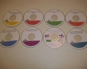 The Ultimate Printable Daycare Curriculum 8 Disc CD-R Set.  Prints over 12,500 pages.  Homeschool, preschool, kindergarten, grade school, mi