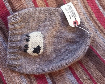 Kids slouchy sheep hat