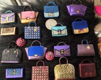 Miniature Hand Made Miniature Designer Handbag Guest Soap - 12
