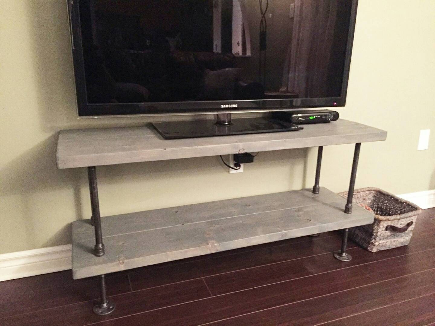 Rustic Industrial Tv Stand Rustic By Pipeandwooddesigns On