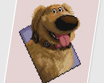 PDF Cross Stitch pattern - 0048.Dug (Up) - INSTANT DOWNLOAD