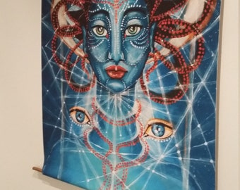 MU-one of the 'Galactic Ambassadors of parallel dimensions'-wall-hanging