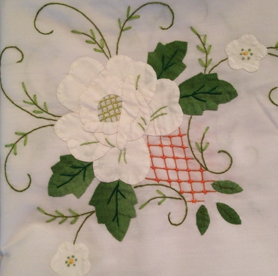 Handmade Embroidered & Applique Tablecloth