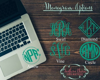 Laptop Palm Rest Monogram Decal