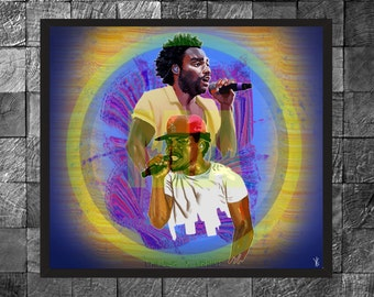 Childish Gambino X Chance The Rapper Hip Hop Rap, Wall Art Photo Print Portrait Poster