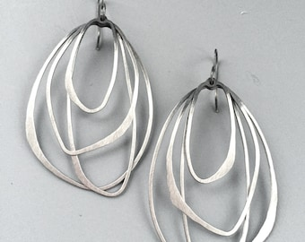 Ombre Layered Hoops on earwires