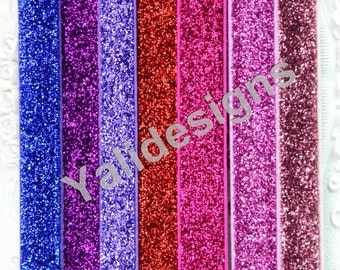 U Pick 1.5cm( 5/8'' inch) 10pcs/lot Sparkling GlitterHeadbans,Elastic Glitter Headband DIY Accessory-YTK21