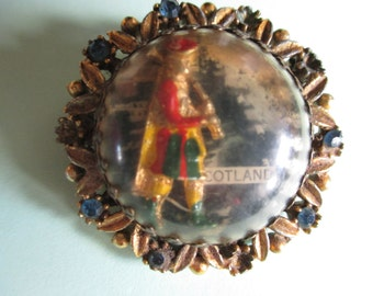 Scottish Bagpiper Brooch Pin