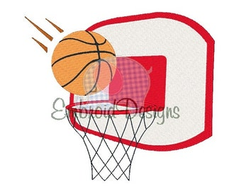 Basketball Goal Machine Embroidery Design 064014  Filled stitch 4X4 5X7 8X8 6X10 Instant download