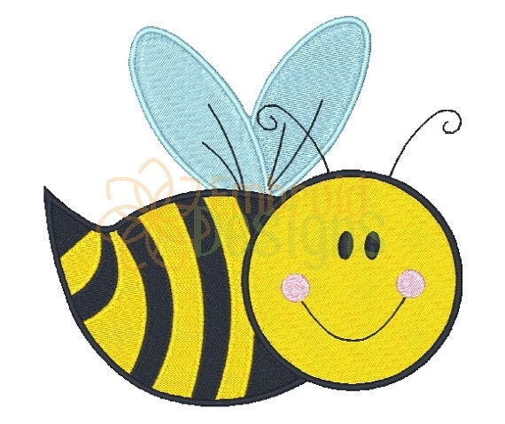 Bumble bee embroidery design by embroiddesigns on etsy