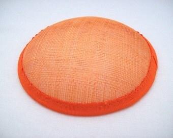 round hat base round fascinator base hat making  13cm (5 inch)  diameter orange new