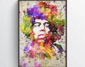 Jimi Hendrix Poster, Jimi Hendrix Print, Jimi Hendrix Art, Jimi Hendrix Decor, Home Decor, Gift Idea