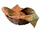 Hot Rolls Basket Liner, Fall Leaves and Golden Tan
