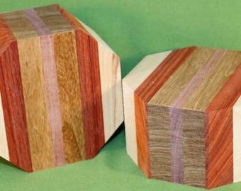 FREE SHIPPING on TWO Piece Wood Turning Bowl Blank Set - Handmade with Exotic Hardwood -  Item #433