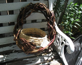 Basket Wall Hanging - Natural Fiber -Hand Crafted - Made in Montana
