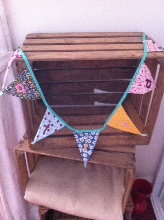 Bunting, chintzy bunting, personalised bunting, nursery bunting, named flags, spotty bunting,gingham bunting