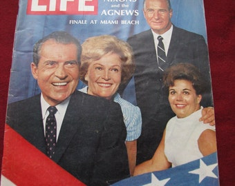 Vintage Life Magazine 1968 The Nixons and Agnews