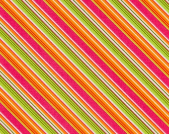 My Mind's Eye OOP Fabric for Riley Blake - Summer Song Collection - Summer Stripe C7056 in Pink - One Yard
