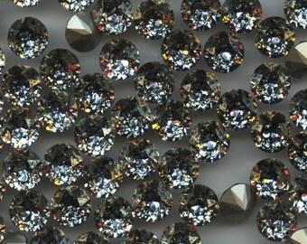 1088 SS39 GOP***  6 Swarovski rhinestones point back SS39 (8,3mm) crystal gold patina