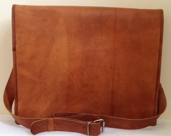 New Genuine Leather Brown Messenger Bag
