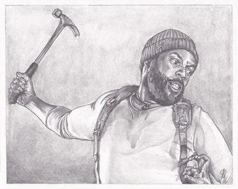 "8""x10"" (20.32cm x 25.4cm) Tyreese Williams- Walking Dead Print"