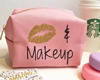 Pink Makeup bag, cosmetics bag,