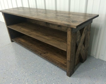 TV Stand , Media Console, Entertainment center / Cabinet W/ Backboard