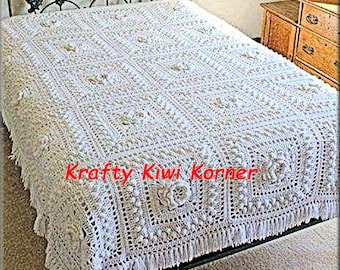 Crochet Granny Squares Bed Cover Set - Made to Order