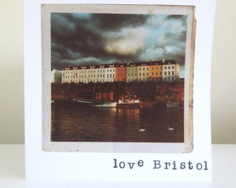 Love Bristol, Harbourside vintage style photography greetings card