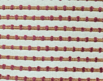 Textured - Pink and Yellow - Upholstery Fabric by the Yard