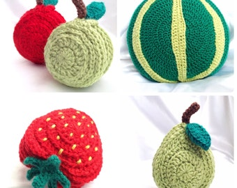 Fruity Tableware Bundle Set - Coasters and Placemats - Crochet PDF Patterns
