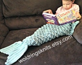 Mermaid Blanket, Mermaid Tail Blanket, Child Mermaid Blanket, Adult Mermaid Blanket, Crochet Mermaid Throw