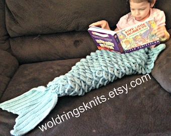 Glitter Options Now Availble** Mermaid Blanket, Mermaid Tail Blanket, Child Mermaid Blanket, Adult Mermaid Blanket, Crochet Mermaid Throw